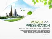 PPT,파워포인트,메인페이지,건축물,도시,나뭇잎,친환경,라이프,에코,그린,비즈니스,산업