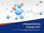 PPT,파워포인트,메인페이지,구,입자,연결,네트워크
