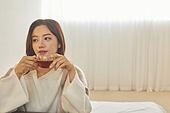 여성, 차 (뜨거운음료), 커피브레이크 (휴식), 티백