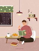 독서, 책, 독서 (읽기), 취미, 시집, 남성 (성별), 집, 겨울