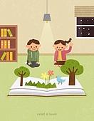 독서, 책, 독서 (읽기), 취미, 겨울, 어린이 (나이), 그림책 (책), 팝업북 (책)