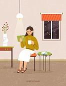 독서, 책, 독서 (읽기), 취미, 겨울, 시집, 여성 (성별), 거실