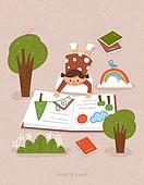 독서, 책, 독서 (읽기), 취미, 겨울, 어린이 (나이), 그림책 (책)