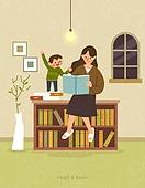 독서, 책, 독서 (읽기), 취미, 겨울, 책장, 꽃병 (용기), 어린이 (나이)