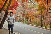 남성, 조깅 (운동), 체력, 운동복 (옷), 단풍길