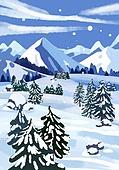 겨울, 눈 (얼어있는물), 설경, 내리는눈 (눈), 풍경 (컨셉), 산, 나무