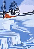 겨울, 눈 (얼어있는물), 설경, 내리는눈 (눈), 풍경 (컨셉), 언덕, 나무