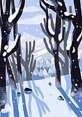 겨울, 눈 (얼어있는물), 설경, 내리는눈 (눈), 풍경 (컨셉), 나무, 그림자, 숲