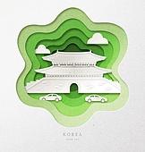 종이 (재료), 페이퍼아트, 랜드마크, 남대문 (서울)
