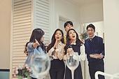 집, 디너파티 (친목회), 포트락파티 (파티), 음식, 미소, 놀람 (컨셉)
