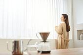 커피 (뜨거운음료), 만들기, 홈메이드, 여성