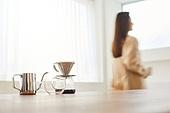 커피 (뜨거운음료), 만들기, 홈메이드, 여성, 핸드드립 (커피)