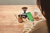 커피 (뜨거운음료), 만들기, 홈메이드, 사람손 (주요신체부분)