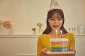 생일, 파티, 축하 (컨셉), 디너파티 (친목회), 미소