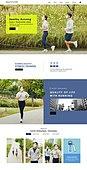 웹템플릿, 메인페이지 (이미지), 웹사이트 (인터넷), 조깅 (운동), 건강한생활 (주제), 건강관리 (주제)