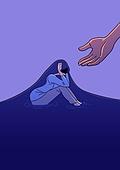 정신건강, 스트레스, 자살, 정신건강 (주제), 위로, 도움 (컨셉), 우울, 우울 (슬픔)