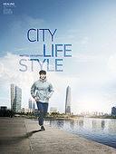 그래픽이미지, 편집디자인, 라이프스타일, 도심지 (구역), 도시 (정착지), 고층빌딩 (회사건물), 아파트, 여가 (주제), 달리기 (물리적활동)