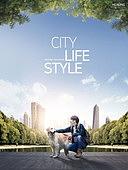 그래픽이미지, 편집디자인, 라이프스타일, 도심지 (구역), 도시 (정착지), 고층빌딩 (회사건물), 아파트, 여가 (주제), 걷기 (물리적활동), 반려동물
