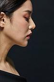 여성, 뷰티, 검정색 (색), 색조화장, 패셔너블, 옆모습, 얼굴 (사람머리)