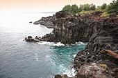 주상절리,바다,바위,화산암,해변,해안,중문,서귀포시,제주도,한국