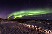 오로라,하늘,자연,밤,밤하늘,밤,녹색,빛,셀포스,아이슬란드,유럽,해외,여행풍경,실외