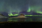 오로라,하늘,자연,밤,밤하늘,밤,녹색,빛,키르큐펠,아이슬란드,유럽,해외,여행풍경,실외