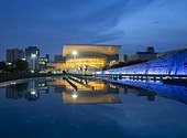 일몰,야경,연못,대전립미술관,풍경,전경,실외,미술관,건축,빌딩,건물,서구,대전,한국,국내여행,