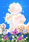 꽃, 비현실 (기묘함), 백그라운드 (주제), 풍경 (컨셉), 자연풍경, 꽃밭