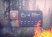 겨울, 날씨, 온도 (묘사), 백그라운드 (주제), 산불, 불 (자연현상)