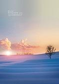 풍경 (컨셉), 겨울, 계절, 자연풍경, 포스터, 설경 (풍경), 일몰 (땅거미), 나무, 구름