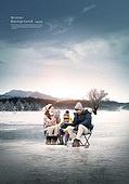 풍경 (컨셉), 겨울, 계절, 자연풍경, 포스터, 설경 (풍경), 가족, 얼음낚시