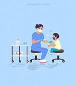 예방접종 (주사), 코로나바이러스 (바이러스), 코로나19 (코로나바이러스), 바이러스, 주사, 의사, 병원 (의료시설)
