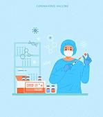 예방접종 (주사), 코로나바이러스 (바이러스), 코로나19 (코로나바이러스), 바이러스, 연구 (주제), 연구소 (업무현장), 과학자 (전문직)
