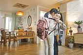 엄마, 워킹맘, 초등학생, 어린이 (나이), 딸, 아침, 출퇴근 (여행하기), 준비