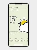 모바일템플릿 (웹모바일), 휴대폰 (전화기), 날씨, 계절