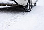눈 (얼어있는물), 도로, 자동차 (자동차류), 타이어, 타이어자국