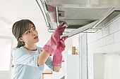 집 (주거건물), 가정주방 (주방), 대청소 (환경보호), 먼지, 가사 (허드렛일), 지저분함 (나쁜상태)