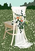 결혼 (사건), 결혼, 연례행사 (사건), 장식품 (인조물건), 결혼식, 꽃, 실외 (Setting), 의자 (좌석), 레이스 (천)