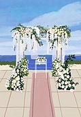 결혼 (사건), 결혼, 연례행사 (사건), 장식품 (인조물건), 결혼식, 꽃, 실외 (Setting), 아치