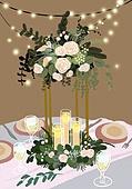 결혼 (사건), 결혼, 연례행사 (사건), 장식품 (인조물건), 결혼식, 꽃, 실외 (Setting), 테이블, 와인잔, 커트러리