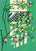 봄, 창문, 프레임, 빛 (자연현상), 꽃, 풍경 (컨셉), 꽃나무, 나무