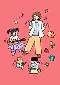 가족, 애정표현 (밝은표정), 밝은표정, 건강한생활 (주제), 부모, 자식 (가족), 엄마, 노래, 음악