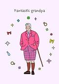 노인 (성인), 프레임, 패션, 멋 (컨셉), 어번그래니 (실버라이프), 노인남자 (성인남자)