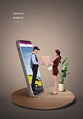 비대면 (사회이슈), 사회적거리두기 (사회이슈), 레이어드홈, 스마트폰, 배달 (일), 쇼핑 (상업활동)