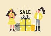 사람, 연례행사 (사건), 상업이벤트 (사건), 쇼핑 (상업활동), 세일 (상업이벤트), 봄, 2021년, 여성, 선물 (인조물건)