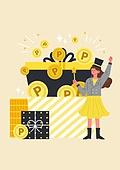 사람, 연례행사 (사건), 상업이벤트 (사건), 쇼핑 (상업활동), 세일 (상업이벤트), 봄, 2021년, 여성, 선물 (인조물건), 마일리지 (컨셉), 선물상자