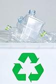 플라스틱, 플라스틱용기 (용기), 페트병 (물병), 환경오염, 재활용 (환경보호), 쓰레기 (물체묘사), 재활용심볼