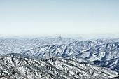 겨울 (계절), 눈 (얼어있는물), 산, 산마루 (산)