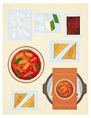 밀키트, 음식, 포장, 배달 (일), 편리함 (컨셉), 간편식, 간편식 (음식), 떡볶이 (분식)
