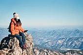 국내여행 (여행), 여행, 겨울, 산 (지세), 하이킹 (아웃도어), 산악등반 (클라이밍), 하이킹, 산악등반, 체력, 취미, 운동, 맨위 (위치묘사), 성공, 산봉우리